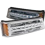 Anzo USA 511066 Chrome LED Signal Light for Chevy Silverado