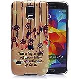 tinxi® Design Silikon Schutzhülle für Samsung Galaxy S5 Hülle TPU Silikon Rückschale Schutz Hülle Silicon Case Dreamcatcher Traumfänger