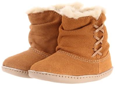Robeez Mini Shoez Winter Rush Boot (Infant/Toddler),Camel/Vanilla,9-12 Months (4 M US Toddler)