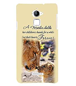 Fuson Premium Mother Forever Printed Hard Plastic Back Case Cover for Coolpad Note 3 Lite
