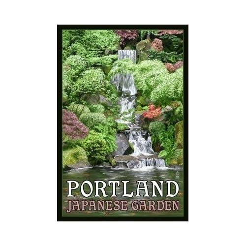Japanese Garden Portland Oregon Poster Lantern Press