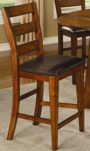 Coaster Home Furnishings 102159 Casual Counter Height Chair, Dark Oak, Set Of 2 front-271839