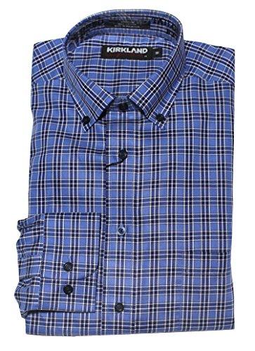 Kirkland Signature Men's Long Sleeve, Non-iron Tailored Fit Twill Sport Shirt