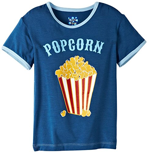 Kickee Pants Baby-Boys Infant Piece Print Tee, Twilight Popcorn, 0-3 Months front-375761