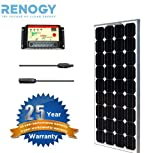 Solar Panel Bundle 100W Monocrystalline: 100W Solar Panel + 30A Charge Controller + MC4 Solar Adaptor Cable
