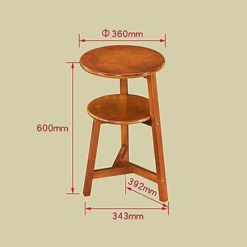 Estante de flor de madera maciza muebles de sala de estar estante de flor de varios pisos creativo estante de estante redondo estante de flor simple ( Color : Marrón , Tamaño : 343*600mm )
