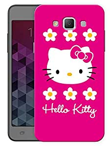 """Humor Gang Cute Kitty Pink Printed Designer Mobile Back Cover For """"Samsung Galaxy E5"""" (3D, Matte, Premium Quality Snap On Case)"""