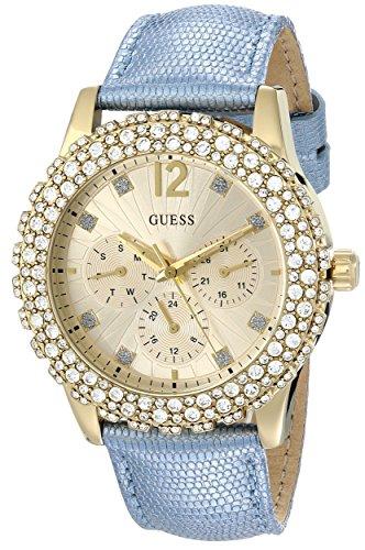 Guess Mujer u0336l6multifunción Gold-tone Reloj Correa de Color Azul