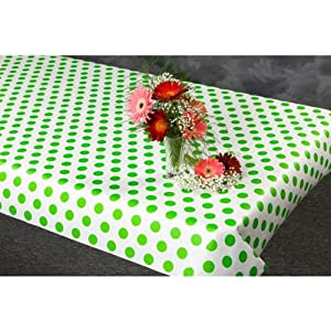 100 foot Green Polka Dot Paper Table Cover