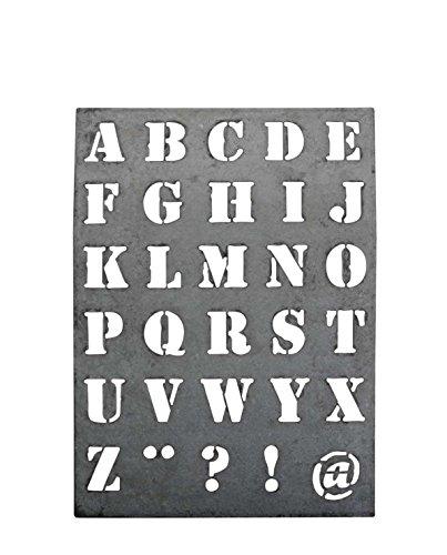 Zinkschild Buchstabenschablone Zink Schablone @ Malschablone