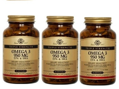 Solgar Triple Strength Omega-3 950 Mg (Triple Pack) 100 Softgels (Omega 3 950 Mg Solgar compare prices)