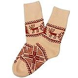 Women's Wool Socks (Ecru) Size 25 (9)