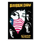Poster art print: GREEN DAY PROTEST 21ST CENTURY BREAKDOWN ROCK BAND (A1 maxi - 61x91.5cm / 24x36in, semi-gloss satin paper)
