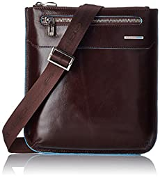 Piquadro Slim Man\'s Bag In Leather, Mahogany, One Size