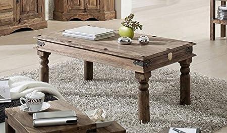 Madera de palisandro indio colonial muebles de madera maciza barnizada 110 x 60 mesa de centro de madera maciza muebles gris Robin #27