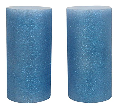 Green Boat Tm. Flameless Led Unscented Candle Pillars Battery Operated With Auto On/Off Timer- 500 Hours Of Candle Light Effect (Shimmer Blue)