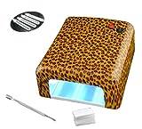 Proxima Direct? 36 Watt UV Nail Gel Lampe Licht Gel Nagel-Trockner mit 120 Sekunden Timer plus 4 x 9W Birnen und Nagelhautschieber