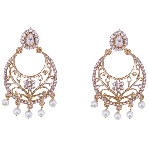 Aditri Aditri FILIGREE FLORAL Earrings (White-Colour) (7103) (Multicolor)