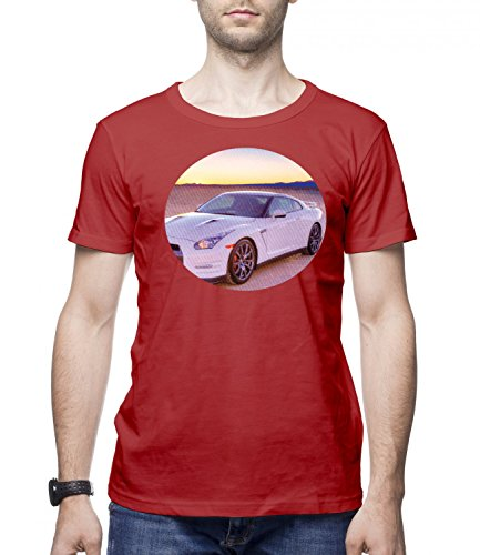 Ford Mustang Sports Car Men's CLASSIC Crew neck T-Shirt Rosso X-Large