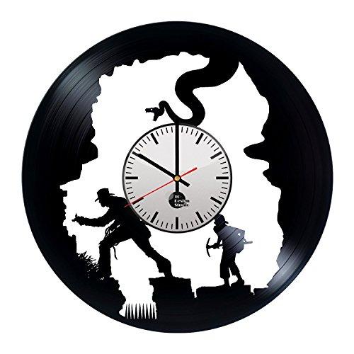 Indiana-Jones-Handmade-Vinyl-Record-Wall-Clock-Fun-gift-Vintage-Unique-Home-decor-Art-Design-Retro-Interier