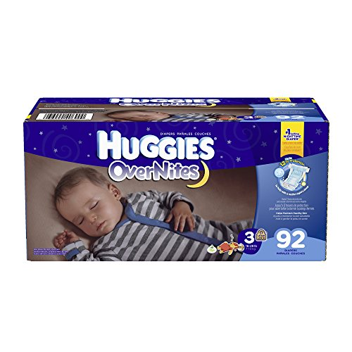 Huggies Overnites Diapers, Size 3, 92 Count (Huggies Size 3 Diapers compare prices)