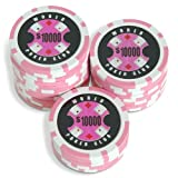 Sleeve of 25 World Poker Club $10000 Pink Poker Chips Clay 14gby Bullets Poker