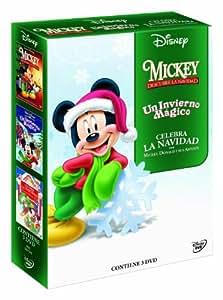 Spain_Pack Navideño Verde (Mickey Descubre La Navidad + Celebra La Navidad Con Mickey, Donald... + Un Invierno Magico) [DVD]