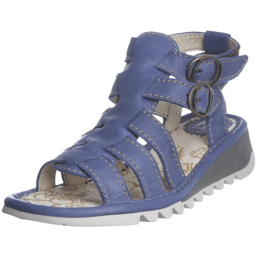 Fly London Women's Tracy Blue Ankle Strap Sandal P500190007 3 UK