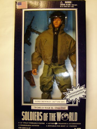 Buy Low Price Formative International Soldiers of the World WWII TANK CREWMAN – 102ND INF. DIV. Figure (B004AFGW3A)