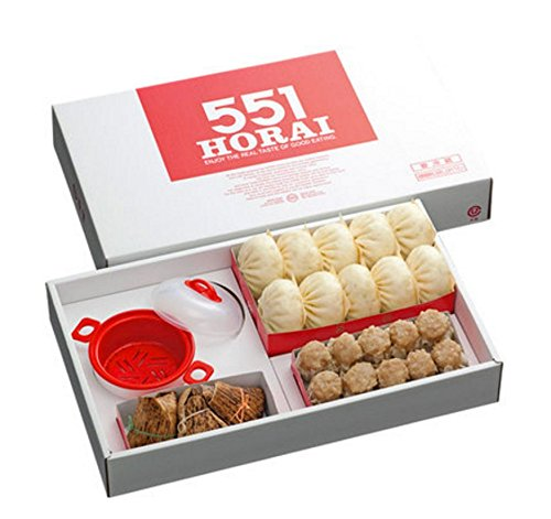 【551蓬莱】豚まん・レンジセイロセット(豚まん10個、焼売10個、ちまき3個、レンジ用セイロ1個)