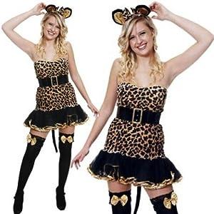 Leopard Wild Cat Kitten Tutu Fancy Dress Costume 10 12