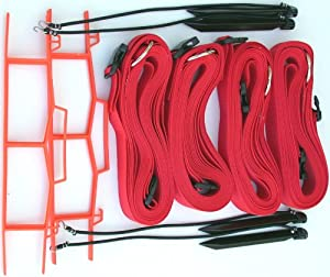 Buy Volleyball Boundary, Adjustable 8 Meter Size, 2-inch Webbing - M819AS by Home Court