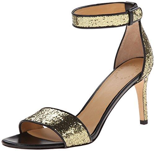 Marc By Marc Jacobs Women'S Metallic Ankle Strap Dress Sandal, Gold/Black, 35 Eu/5 M Us
