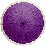 【京美咲-ゆきわ-】雨に濡れると桜が浮き出る和傘婦人24本傘/レイングッズ【紫 】