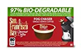 51OQdExWZYL. SL160  San Francisco Bay Coffee Fog Chaser One Cup for Keurig K Cup Brewers, 80 Count