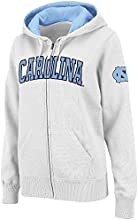 Womens NCAA UNC Tar Heels Full-zip Hoodie White