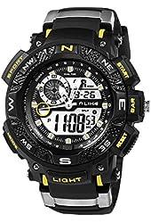 ECOOPRO® Sport Men's AK1389Y Digital-Analog Watch Versatile Black Rubber Strap Waterproof
