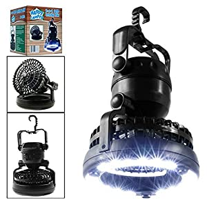 F.Dorla 2-in-1 Multi-functional Weather Resistant 18-LED Camping Tent Light Lamp with Ceiling Fan by F.Dorla