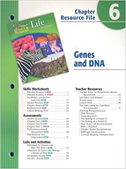 holt science technology life science chapter 6 resource file genes and dna holt rinehart. Black Bedroom Furniture Sets. Home Design Ideas