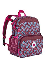 Lassig Kids Backpack for Kindergarten or  Pre-School with chest strap, name badge and drink Bottle Holder, Blossy Pink