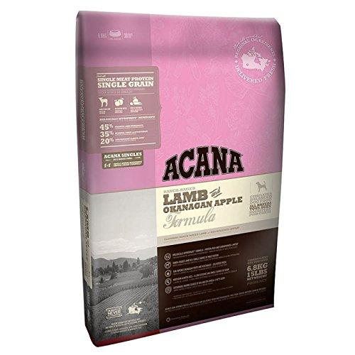 Acana Singles Agnello & Mela Okanagan crocchette per cane qualità top 11,3 kg