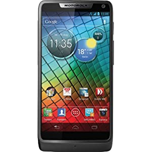 Motorola RAZR i Smartphone (10,9 cm (4,3 Zoll) Touchscreen, 8 Megapixel Kamera, 2,0 GHz Intel Atom Prozessor, Micro USB, Android 4.0 OS) schwarz