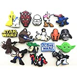 NEW 17pcs Star Wars Shoe Charms for Croc Shoes & Wristband Bracelet