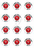PRE-CUT COMIC RELIEF RED NOSE DAY CHARITY 12 x 2