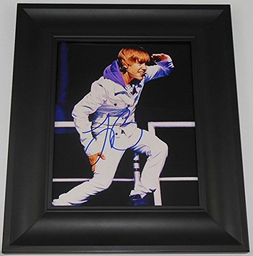 Justin Bieber Never Say Never Signed Autographed 8X10 Glossy Photo Framed Loa