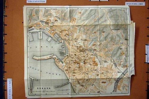citta-1909-di-pianificazione-della-via-della-mappa-genova-italia-nuovo-oporto