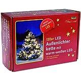 Idena LED - Lichterkette 120-er, für Außen, 20 m, warmes weiß 8325097