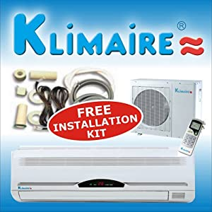 Klimaire 2 ton 24,000 btu/h Ductless heat pump heat & cool wall mounted room Mini Split 230 volt Super high efficiency 13 SEER air conditioner Conditioners condition Conditioning