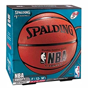 Spalding Varsity Rubber Outdoor Basketball - Official Size 7 (29.5