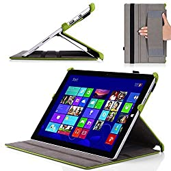MoKo Microsoft Surface Pro 3 Case - Slim-Fit Multi-angle Folio Cover Case for Microsoft Surface Pro 3 12 Inch Tablet, GREEN